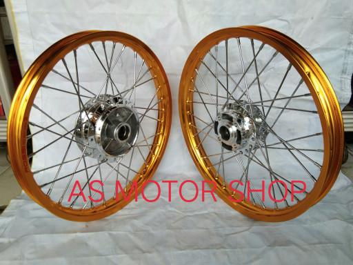 harga Sepaket velg rossi 140 - 160 x 17 tromol set jari2 for honda bebek Tokopedia.com