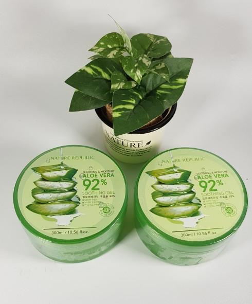 harga Nature republic aloevera 300ml sooting gel /cream lidah buaya Tokopedia.com