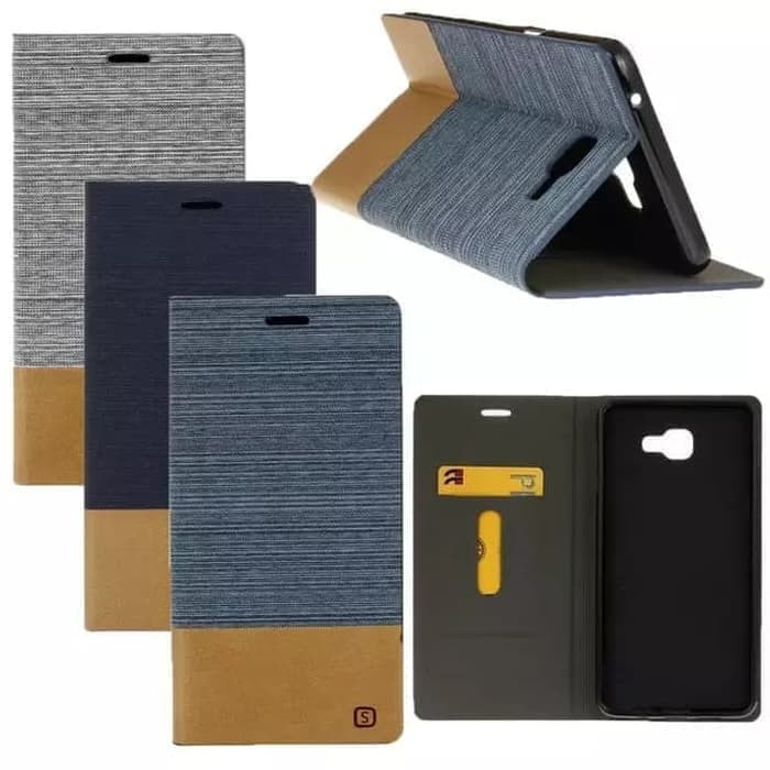 harga Samsung galaxy a3 2016 denim canvas flipcover case casing bumper book Tokopedia.com