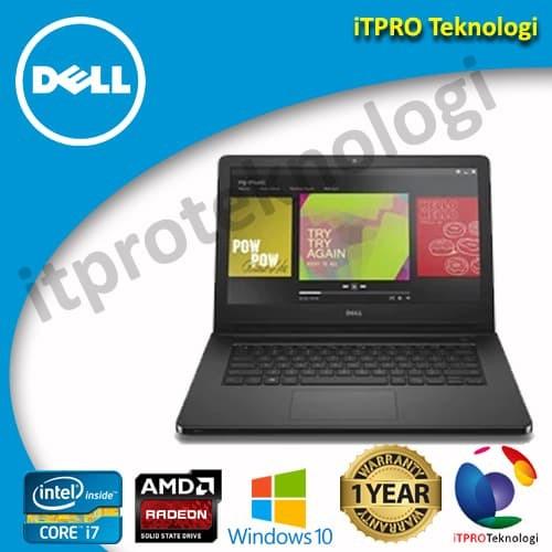 harga Dell inspiron 5468 black - ci7-7500u4gb256gb ssdamd rad 2gb14 w10 Tokopedia.com