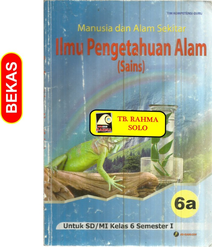 Jual Bl 8 222 Manusia Dan Alam Sekitar Ilmu Pengetahuan Alam Untuk Sd Kela Kota Yogyakarta Toko Buku Rahma Tokopedia