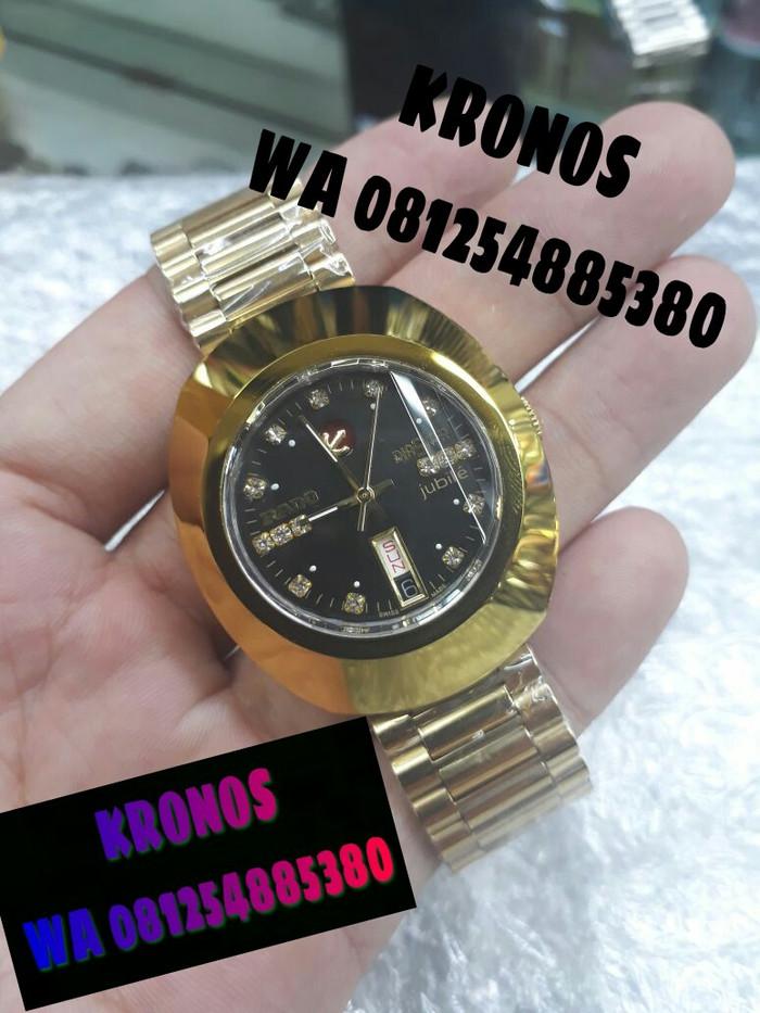 Jual JAM TANGAN COWOK PRIA RADO DIASTAR GOLD BLACK SUPER PREMIUM AAA ... c7ede1df80