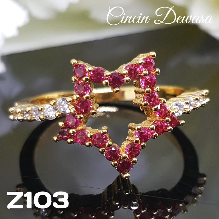 harga Z103 cincin xuping yaxiya - perhiasan lapis emas 18k Tokopedia.com