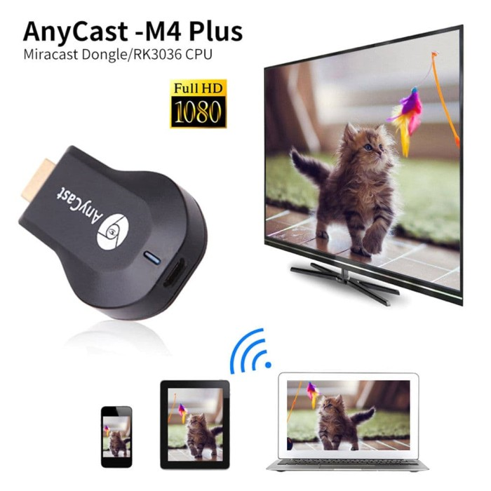 harga Any cast m2 plus m4 wifi display dongle receiver hdmi tv dlna airplay Tokopedia.com