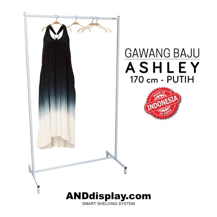harga Rak gawang baju ashley t.170 putih gamis pameran jemuran butik Tokopedia.com