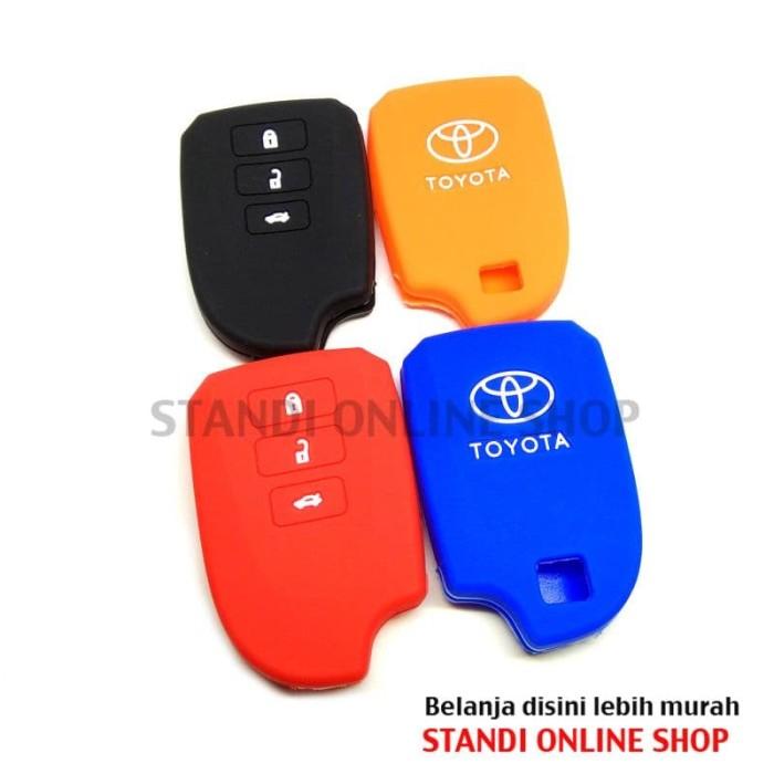 Kondom Kunci Remote Silikon Cover Smart key Toyota New Vios TRD
