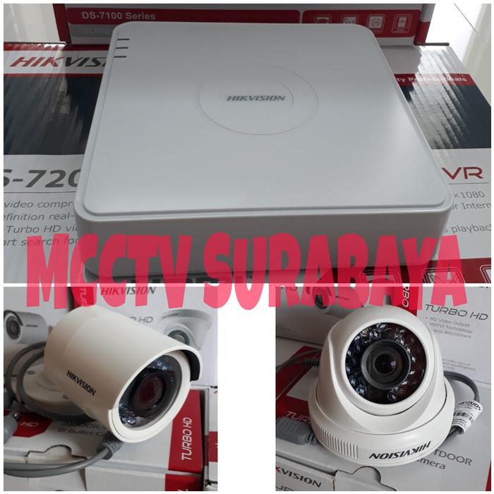 harga Paket cctv 4ch hikvision 2mp 2 indoor 1 outdoor full hd lengkap Tokopedia.com