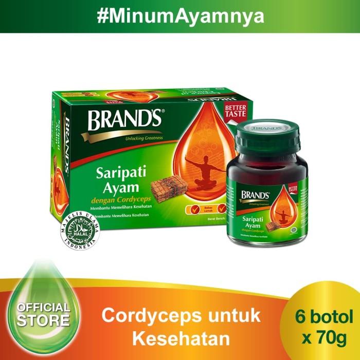 brand's saripati ayam dengan cordyceps 70 gr (isi 6 botol)