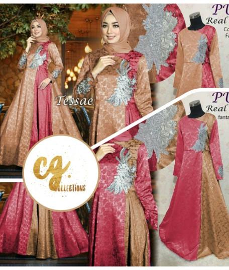 951eeb13 Jual GAUN TESSA JACQUARD GLITTER gamis baju pesta muslimah dress ...