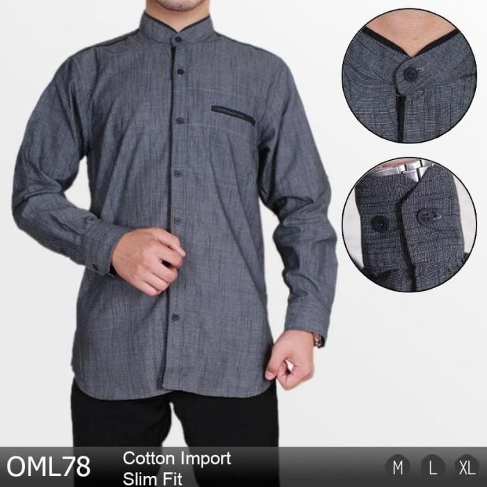 Baju Koko Lengan Panjang Pria Busana Muslim Modern Slim Fit 1