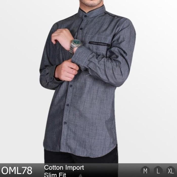 Baju Koko Lengan Panjang Pria Busana Muslim Modern Slim Fit 2