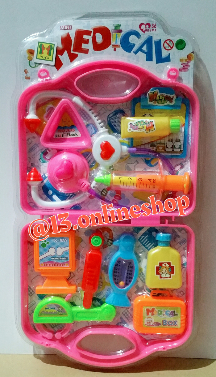 Jual Mainan Dokter Anak Mainan Koper Dokter Mainan Tas Dokter Mainan Suster Jakarta Pusat 13 Line Shop