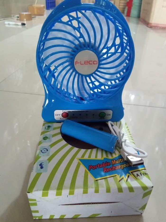 Kipas Angin Fleco Mini Portable Fan / Kipas Angin Portable - Hijau muda