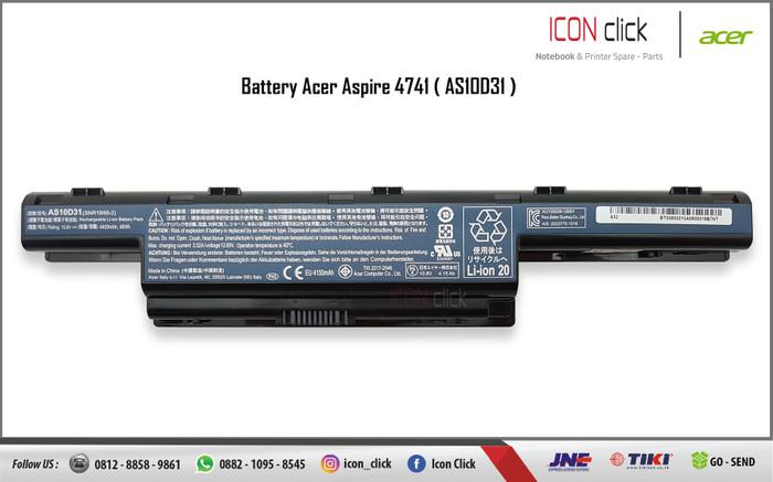 Foto Produk Baterai Laptop Acer Aspire AS10D73 dari Icon Click