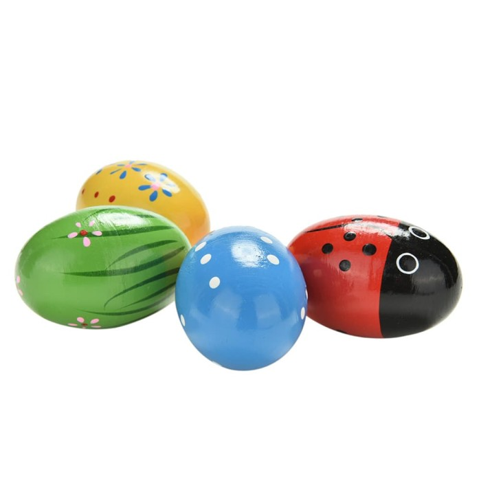 harga Marakas telur kayu mainan alat musik bayi baby maracas sand egg shaker Tokopedia.com