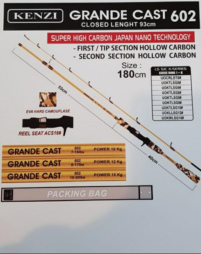 harga Joran bait casting kenzi grande cast 602 15lb Tokopedia.com