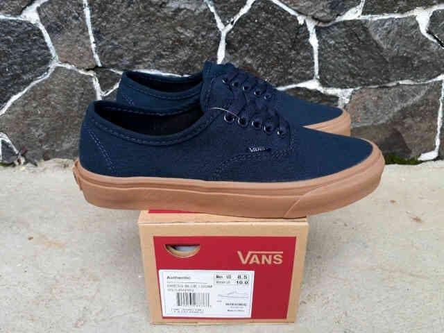 b6b96c2909 Jual sepatu casual pria vans authentic navy gum original premium DT ...