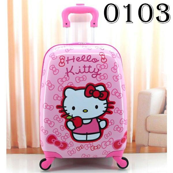 tas koper luggage anak hello kitty fiber 16 inch 4 roda