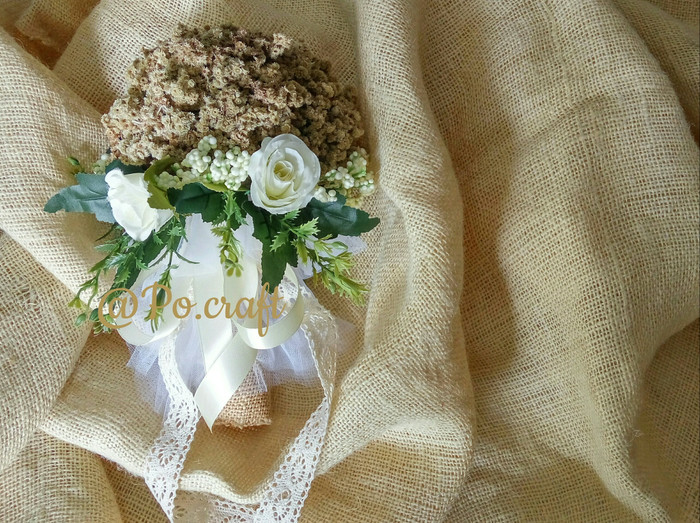 harga Bouquet edelweis wedding with bunga artifisial Tokopedia.com