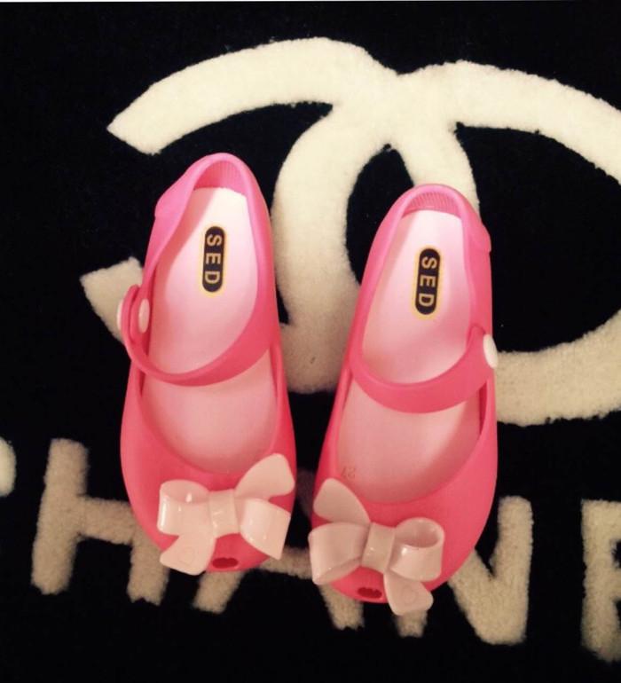 harga Sepatu jelly anak pita - 28 merah muda Tokopedia.com