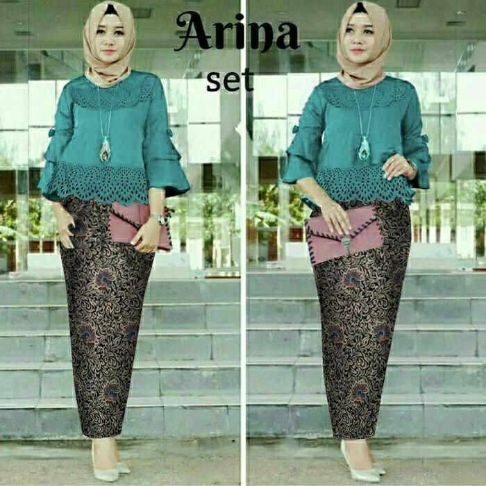 Jual Arinalaser o pakaian wanita dress batik kebaya modern setelan ... 15ea6db781
