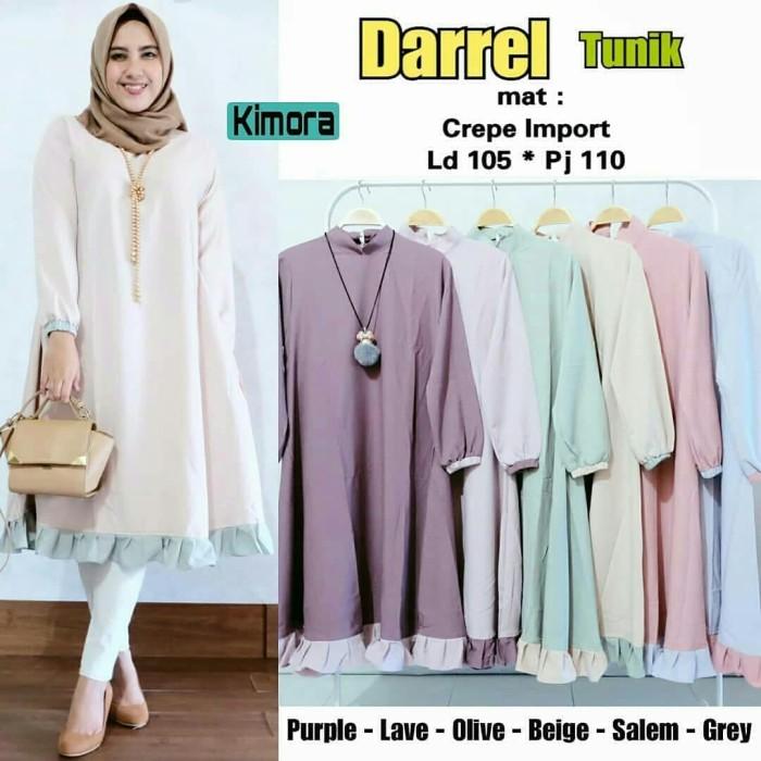 Jual Tunik Darrel Tunic Wally Crepe Baju Kerja Atasan Wanita Muslim ... 904f7e6167