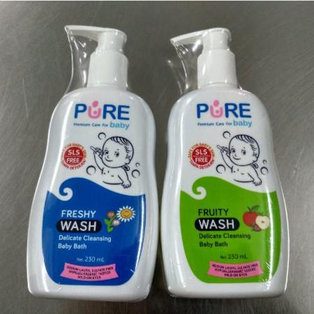 Pure baby wash freshy dan fruity 230ml / sabun mandi bayi dan anak