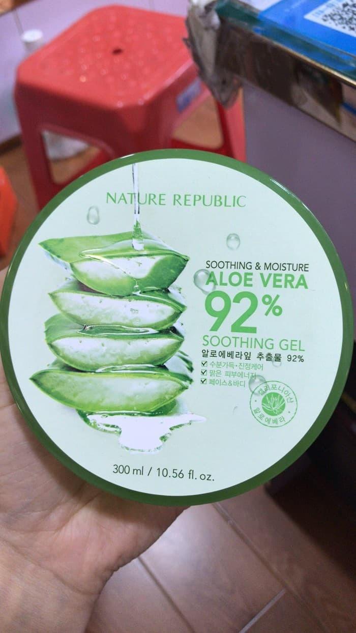 harga Nature republic aloe vera 92% soothing gel 300ml Tokopedia.com