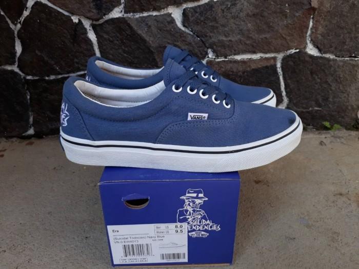a56d2cb271e64a Jual Sepatu vans ERA SUICIDAL TENDENCIES blue navy white original ...