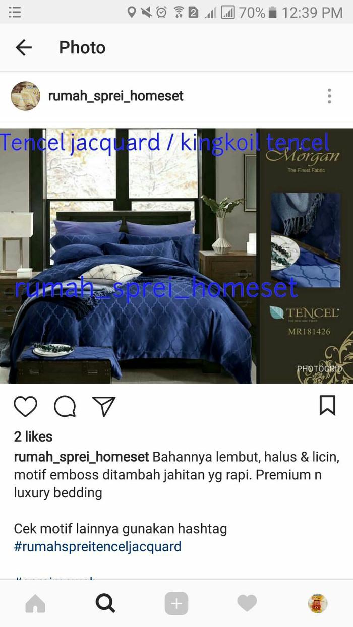 Jual Sprei Dan Sarung Kasur Custom Tencel Jacquard Kingkoil Rumah Homeset Tokopedia Bed Cover