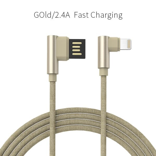golf space t bone kabel data lightning fast charging 2.4 a - emas
