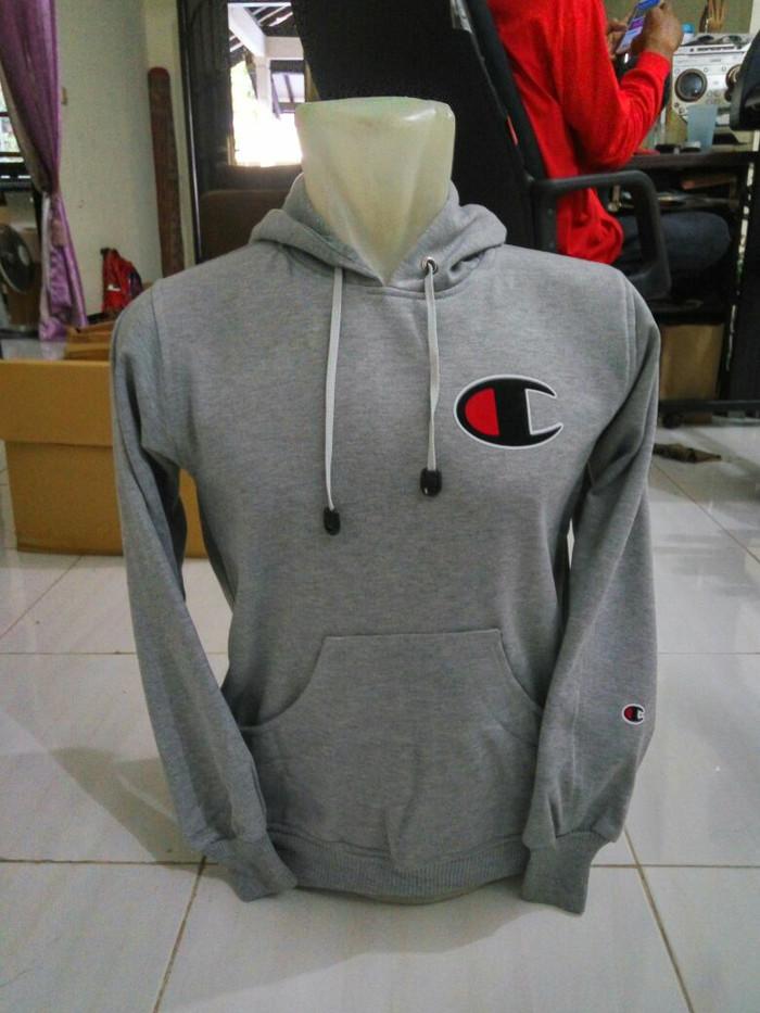 Hoodie - Zipper - Jaket - Sweater Champion - Hitam, S