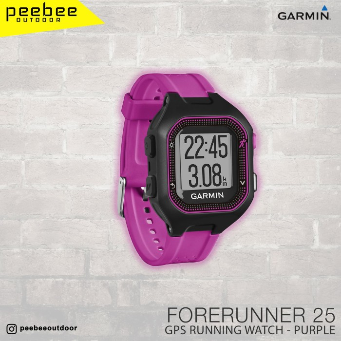 harga Garmin forerunner 25 apac large black/purple Tokopedia.com
