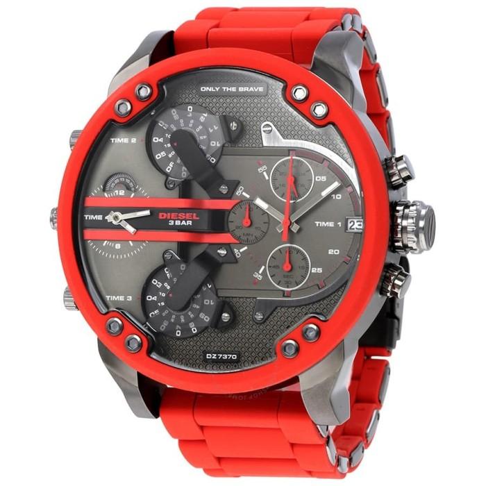 Foto Produk Jam Tangan DIESEL Watches Mr. Daddy DZ7370 Merah Best Premium Quality dari TOKONYA DISINI