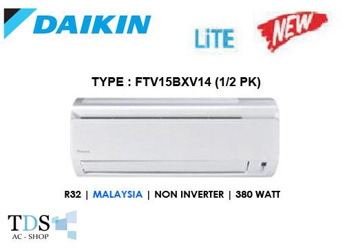 harga Ac daikin ftv15bxv14 standard malaysia 1/2 pk - r32 Tokopedia.com