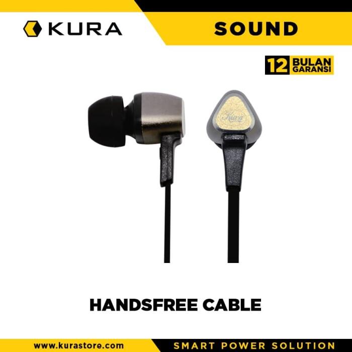 kura sound handsfree cable - merah