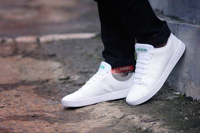 Jual MURAH SEPATU Adidas NEO ADVANTAGE CLEAN full white Original 100 ... 220f16528b