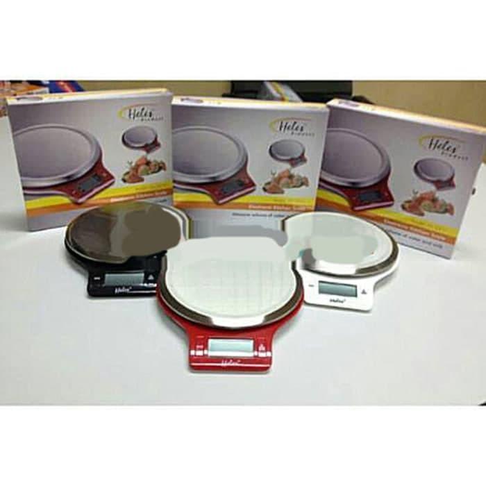 Timbangan Dapur Kue Kitchen Digital Scale 5 Kg 1 Gram HELES HL-3211