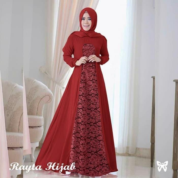 Jual Baju Gamis Long Dress Pesta Wanita Maxi Dress Panjang Muslim