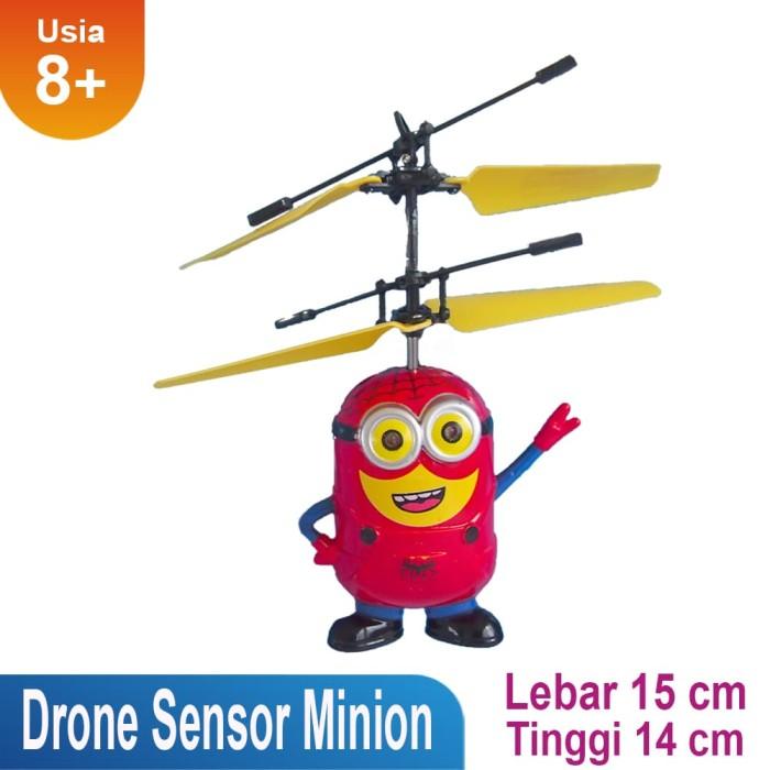 Mainan drone minions sensor gerak tangan jy8182 - merah