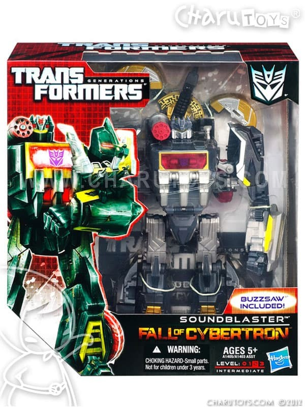Foto Produk Transformers Soundblaster Soundwave Fall of Cybertron Voyager Class dari Charu Toys