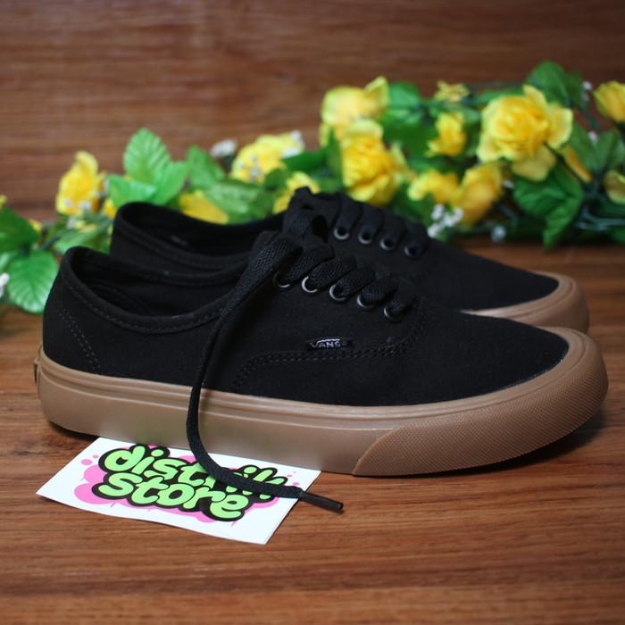 3f93b6c448 Jual Sepatu Vans Authentic Mono Black Gum - distrikstore