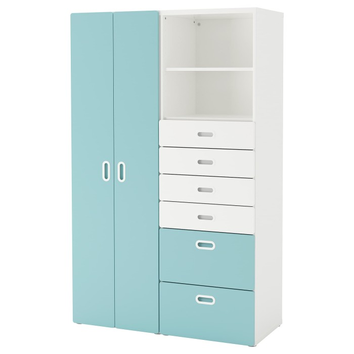 Jual Ikea Stuva Fritids Lemari Pakaian Putih Biru Muda Ukuran