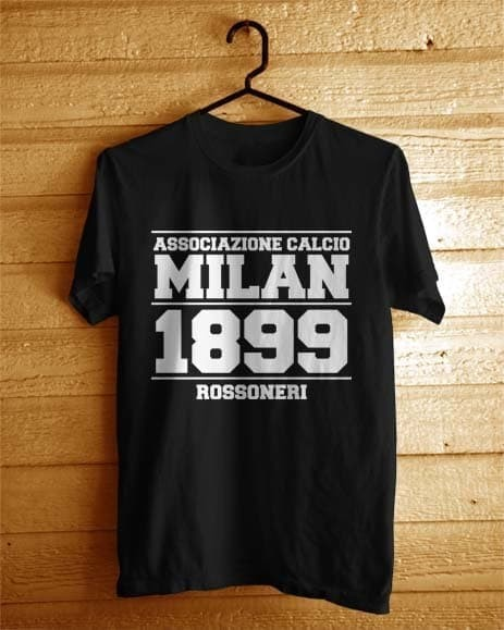 harga Kaos baju combed 30s distro ac milan 1899 associazione calcio jersey Tokopedia.com