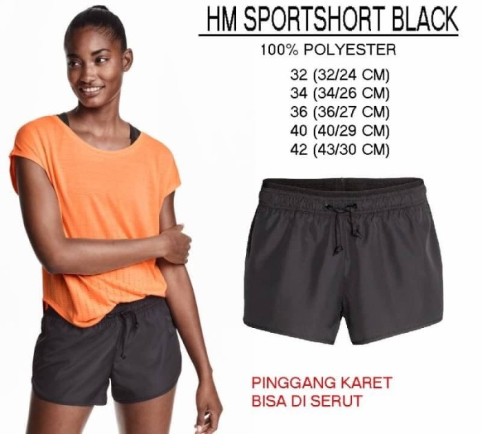 Jual Celana Pendek Wanita - H M 05 SPORTSHORT BLACK - Boss ... 0a2ac6cb3d
