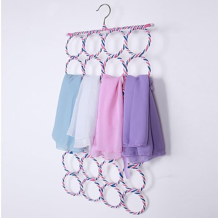 Hanger unik untuk gantung jilbab / Syal / Belt 28 gantungan Promo
