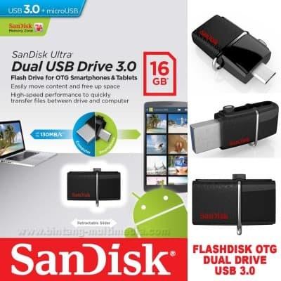 harga Sandisk usb ultra dual drive 64gb | otg android pc flashdisk 64 gb Tokopedia.com