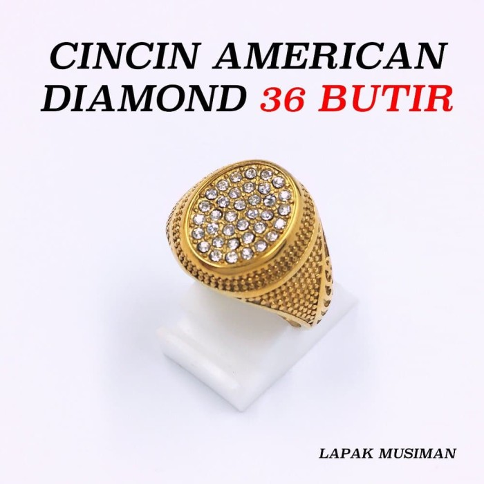 Jual CINCIN SUPER MEWAH AMERICAN DIAMOND 36 BUTIR