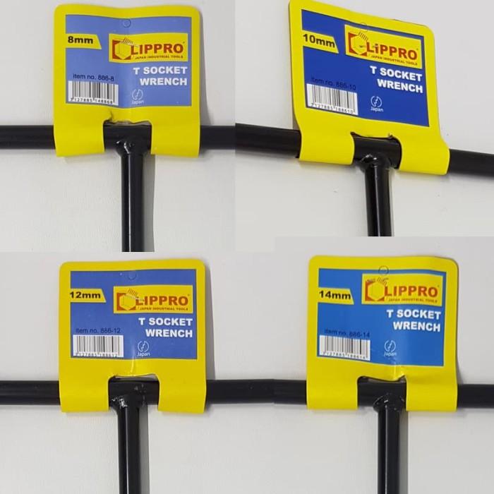 harga Paket 4 set kunci t sok lippro 8 , 10 , 12 , 14 mm