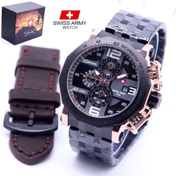 harga Jam tangan swiss army bonus tali kulit Tokopedia.com
